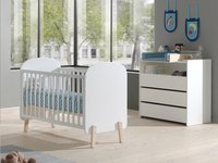 Vipack Babybed Kiddy wit-Afbeelding 1