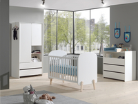 Vipack Babybed Kiddy wit-Afbeelding 2