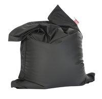 Pouf Beanbag aspect cuir gris foncé