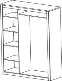 Kleerkast Thibo met 3 deuren-Artikeldetail