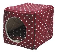Vadigran Panier pour chat / chien Cube Dots