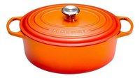 Le Creuset Ovale stoofpan Signature oranjerood 31 cm - 6,3 l-Vooraanzicht