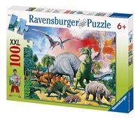 Ravensburger puzzel Tussen de dinosauriërs-Vooraanzicht