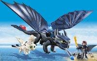 PLAYMOBIL Dragons 70037 Krokmou et Harold avec un bébé dragon-Image 1