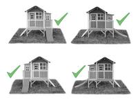 EXIT houten speelhuisje Loft 350 groen-Artikeldetail