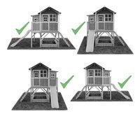 EXIT maisonnette en bois Loft 550 rouge-Détail de l'article