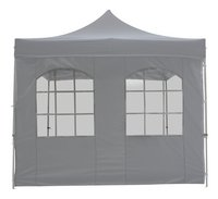 Zijstuk met venster polyester 3 m grijs