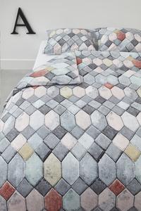 At Home Dekbedovertrek Go grey katoen-Afbeelding 1