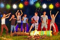 Guirlande de ballons avec LED multicolore-Image 1