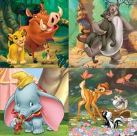 Educa Borras puzzel 4-in-1 Disney Animals-Vooraanzicht
