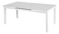 Table de jardin à rallonge Victoria blanc L 180 x Lg 100 cm