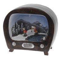 Télévision avec scène de Noël rond