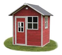 EXIT houten speelhuisje Loft 100 rood-Vooraanzicht