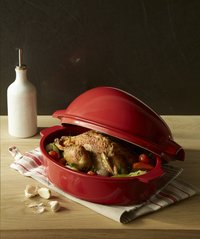 Emile Henry braadvorm voor kip Chicken Baker grand cru L 34 x B 24  cm-Afbeelding 1