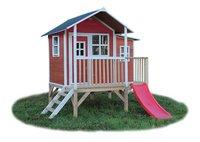 EXIT houten speelhuisje Loft 350 rood-Vooraanzicht