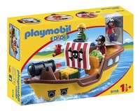Playmobil 1.2.3 9118 Bateau de pirates