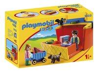 Playmobil 1.2.3 9123 Étal de marché transportable