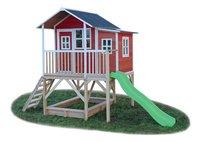 EXIT houten speelhuisje Loft 550 rood-Vooraanzicht