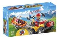 Playmobil Action 9130 Secouriste des montagnes avec quad