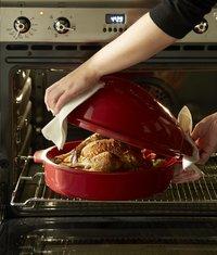 Emile Henry braadvorm voor kip Chicken Baker grand cru L 34 x B 24  cm-Afbeelding 2