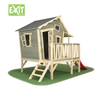 EXIT houten speelhuisje Crooky 350-Vooraanzicht
