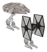 Hot Wheels ruimteschip Star Wars TIE fighter vs Millenium Falcon-Vooraanzicht