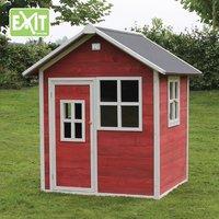 EXIT maisonnette en bois Loft 100 rouge-Image 1
