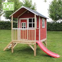 EXIT houten speelhuisje Loft 300 rood-Afbeelding 1