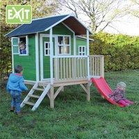 EXIT houten speelhuisje Loft 350 groen-Afbeelding 1