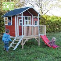 EXIT maisonnette en bois Loft 350 rouge-Image 1
