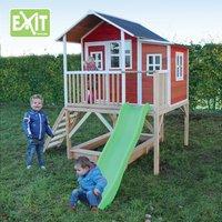 EXIT maisonnette en bois Loft 550 rouge-Image 1