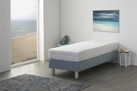 Vaste boxspring Medina meubelstof mint 80 x 200 cm-Afbeelding 2