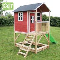 EXIT maisonnette en bois Loft 500 rouge-Image 2