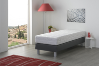 Boxspring fixe Medina aspect cuir anthracite-Image 3