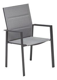 Jati & Kebon Chaise de jardin Alayi argenté/anthracite