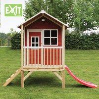EXIT houten speelhuisje Loft 300 rood-Afbeelding 3