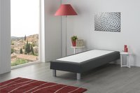 Boxspring fixe Medina aspect cuir anthracite 90 x 200 cm-Image 2
