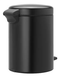 Brabantia Pedaalemmer newIcon matt black 5 l-Achteraanzicht