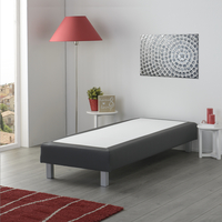 Boxspring fixe Medina aspect cuir anthracite 90 x 200 cm-Image 4