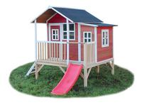 EXIT maisonnette en bois Loft 350 rouge-Côté droit