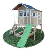 EXIT maisonnette en bois Loft 550 naturel-Côté droit