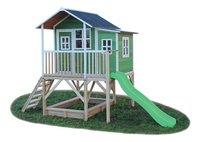 EXIT houten speelhuisje Loft 550 groen-Rechterzijde