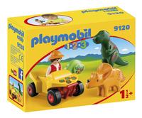 Playmobil 1.2.3 9120 Dino-onderzoeker met quad