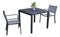 Table de jardin Cannes anthracite L 90 x Lg 90 cm-Image 1