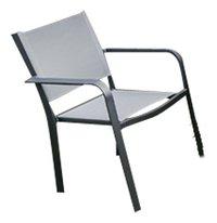 Chaise de jardin Cannes gris argenté/anthracite
