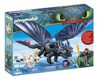 PLAYMOBIL Dragons 70037 Krokmou et Harold avec un bébé dragon-commercieel beeld