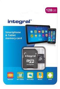 Integral carte mémoire microSDXC + adaptateur SD 128 Go-Avant