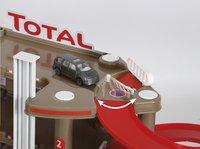 Servicestation Super garage Total-Bovenaanzicht