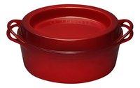 Le Creuset ronde braad-/stoofpan Doufeu kersrood 24 cm - 4,1 l-Vooraanzicht