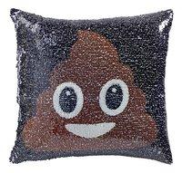Emoji Kussen pailletten poo/regenboog-Vooraanzicht